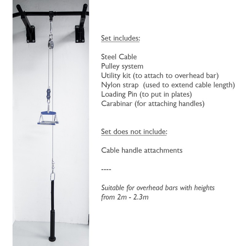 buy mf cable pulley system tricep lat pull down fitness league
